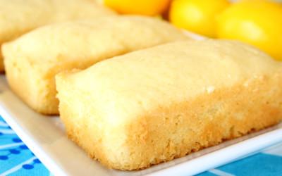 Glazed lemon tea cake