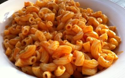 Indian style macaroni pasta